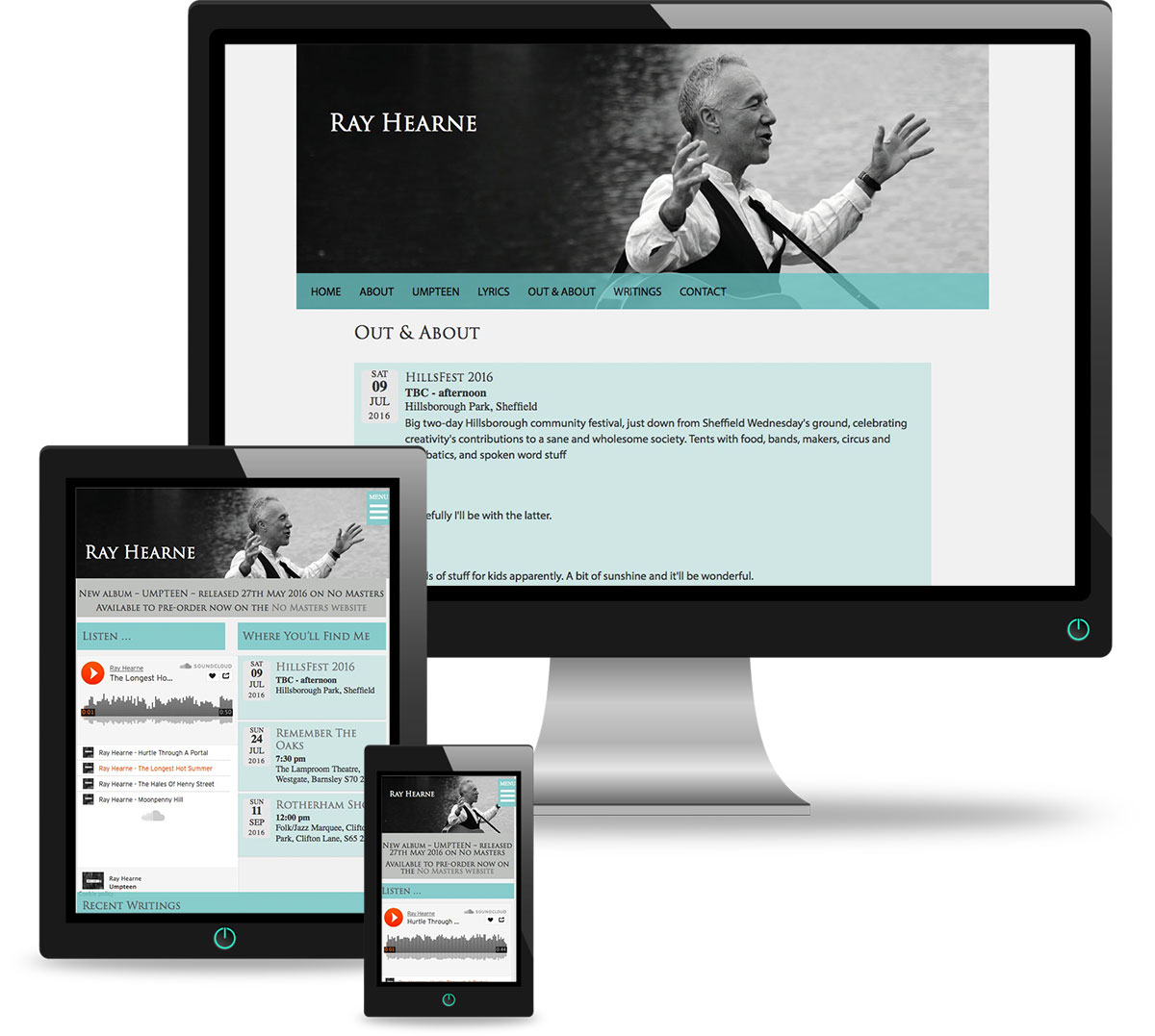 Ray Hearne site on multiple devices